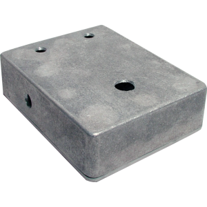 """Chassis Box - Aluminum, 4.67"""" x 3.68"""" x 1.18"""", pre-drilled"""