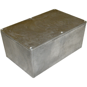 "Box - Hammond, Unpainted Aluminum, 7.38"" x 4.70"" x 3.07"" Depth"