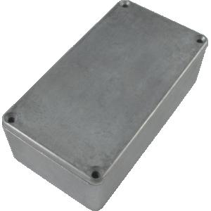 "Chassis Box - Hammond, Unpainted Aluminum, 4.77"" x 2.6"" x 1.39"""