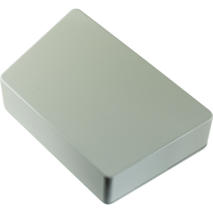 Chassis Box - Hammond, Trapezoid, Light Gray