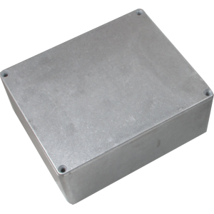 "Box - Hammond, Unpainted Aluminum, 5.3"" x 4.4"" x 2.2"" Depth"