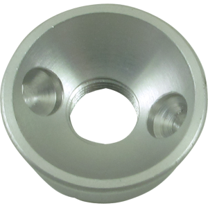 Jack plate - Electrosocket, for Tele, Chrome