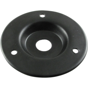 "Jack Plate - Single 1/4"", 2"" Outside Diameter, Black Metal"