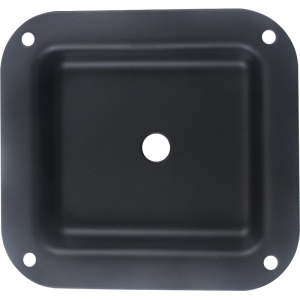 "Jack Plate - 1-Hole, Metal, Black, 4.02"" x 4.40"""
