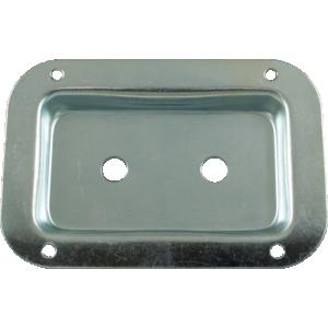 Jack Plate - Metal. Zinc, 2 holes, 3 1/2 x 5 1/8 inch