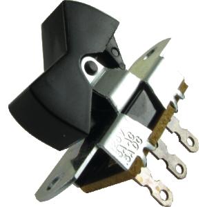 Switch - Rocker, SPDT 3A 125VAC, Black, package of 2