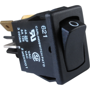 Switch - Carling, DPST, Mini Rocker, 10A, 250VAC