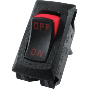 Switch - Carling, Mini Rocker, SPST, 16A, 125VAC, On-Off