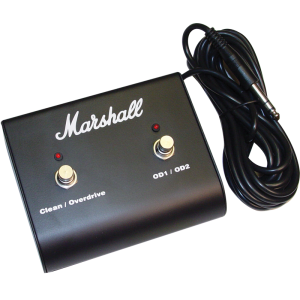Footswitch - Marshall, Two Button with LED (Clean/OD, OD1/OD2)