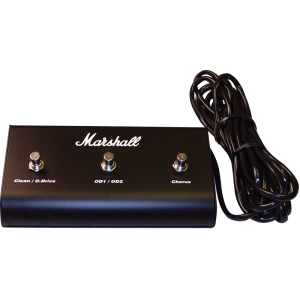 Footswitch (PED803), Original Marshall, Three Button with LED (Clean / O.Drive, OD1 / OD2, Chorus)