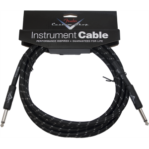 Cable - Original Fender, Custom Shop, Instrument, Black Tweed