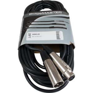Microphone cable, Stagemaster XLR, 25 feet