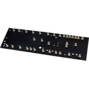 Turret Board - Black, 2mm, Loaded with 33 Turrets, 230mm x 70mm
