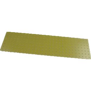 Turret Board - Blank, 2 mm, 189 Holes, 258mm x 67mm, Yellow