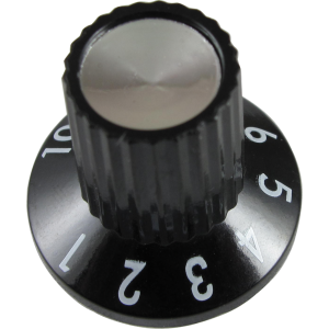 Knob - Fender, Black 1-10, for Princeton 65 DS