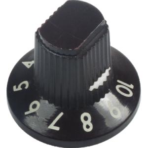Knob - Fender®, Dark Brown 1-10, Push-On