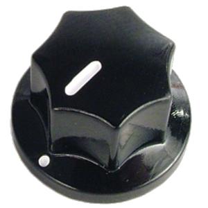 Knob - Black with Line set screw .75 x .50