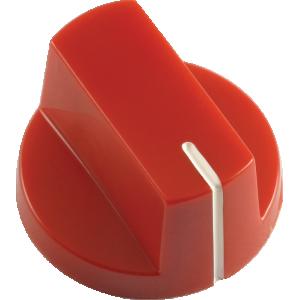 Knob - Red, white line, Large, set screw