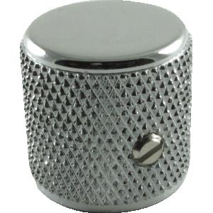 Knob, Fender® Telecaster/P-Bass barrel (2 pieces), chrome