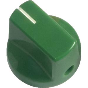 Knob - Dark Green, White Line, Small, Set Screw