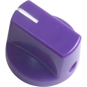 Knob - Purple, White Line, Small, Set Screw