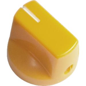 Knob - Yellow, White Line, Small, Set Screw