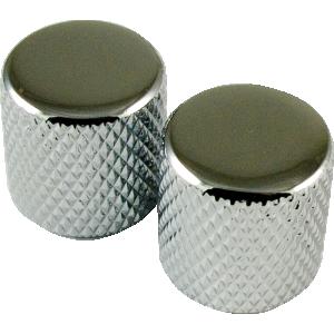 Knob, Telecaster metal for knurled shaft (2 pieces), chrome