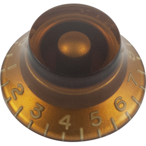 Knob - Top Hat, Embossed Numbers, Gibson Style
