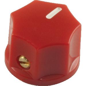 Mini Indicator Knob, 15mm x 11mm, set screw, Red