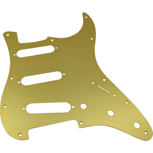 Pickguard, Fender® American Stratocaster 11-hole gold anodized
