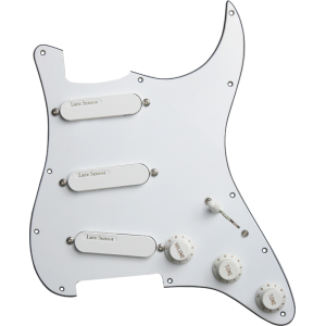 Loaded Pickguard - Lace, White, Loaded with 3 Gold Lace Sensors