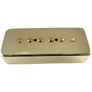 Pickup - Kent Armstrong, Stealth 90 - Noiseless P90 Neck, Gold, Metal Cover