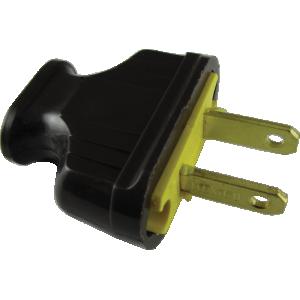 Plug - AC, Flat, Brown