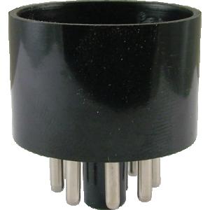 Tube Base - 8 Pin, Octal, Black