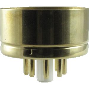 "Tube Base - 8 Pin, Gold Coated Pins, 1.57"" diameter"