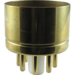 "Tube Base - 8 Pin, Gold Coated Pins, 1.20"" diameter"