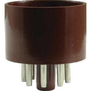 Tube Base - 8 Pin, Octal, Brown