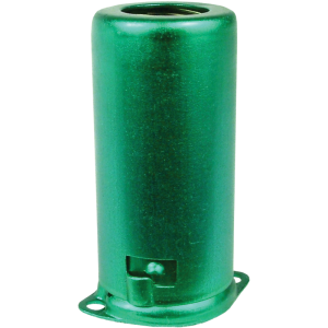 Tube shield for 9-pin miniature, aluminum, green