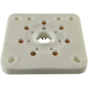 Socket - 7 Pin, Large, Ceramic Plate for 6C33C