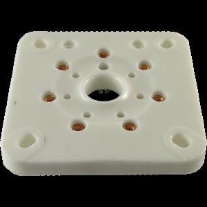 Socket - 7 Pin, Large, Ceramic Plate for 6C33C