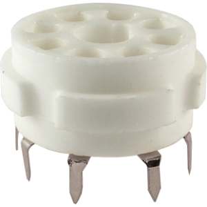 Socket - 8 Pin Octal, Ceramic PC Mount