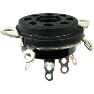 """Socket - 8 Pin, 1"""" Chassis Hole, 1-1/4"""" Mounting Centers"""