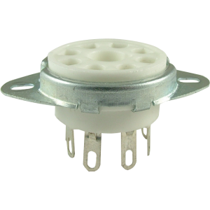 "Socket - 8 pin octal, 1"" with bracket"