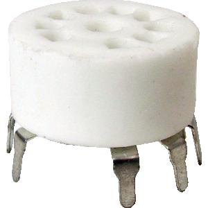 Socket - 9 Pin, Miniature, Standoff Ceramic PC Mount