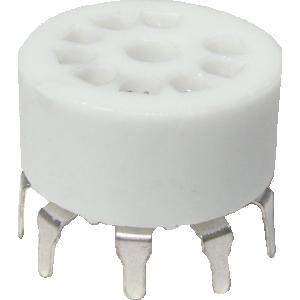Socket - 9 Pin, Standoff Ceramic PC Mount