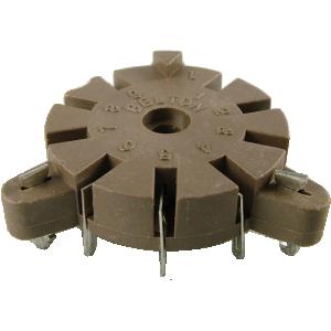 Socket - 9 Pin, for Auto-Wave Soldering, Belton