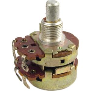 Potentiometer - Dual Linear, 10K Bottom, 100K top, 24mm, D Shaft, Solder Lug