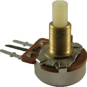 """Potentiometer - 175K Audio, 24mm, ½"""" Bushing, Long PC Mount"""
