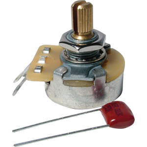 Potentiometer - Fender®, 250K, Audio, Knurled Shaft