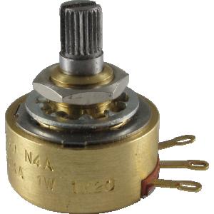 Potentiometer - Alessandro, 500K Audio, 1W, Knurled Shaft